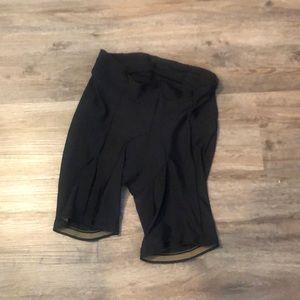 Men's black biker shorts